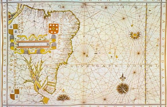 Mapa Costa do Brasil