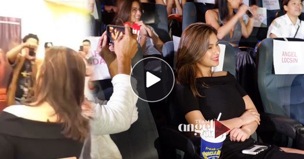 """Angel Locsin Went Straight To The Premiere Night Of """"Sid and Aya"""" After Her Work Schedule"""