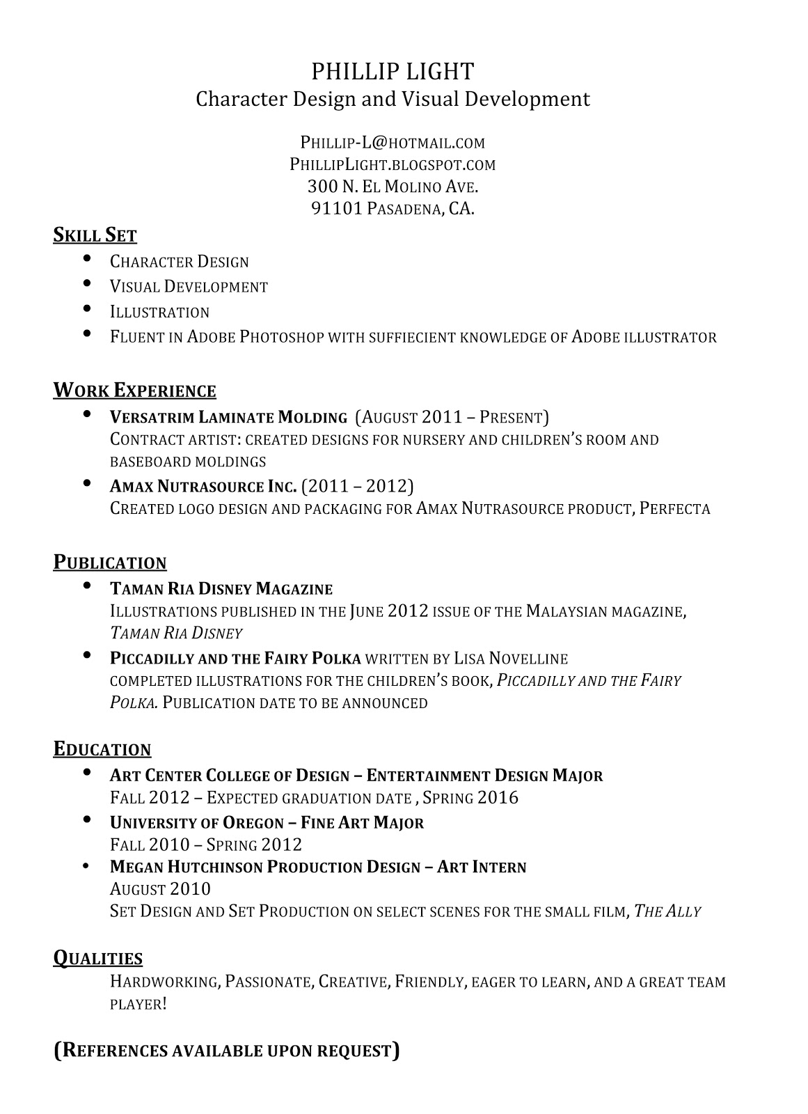 bullet points on resumes