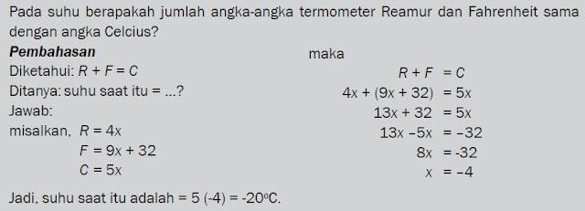 Cara Menentukan Rumus Konversi Suhu Pada Termometer beserta Contoh Soalnya