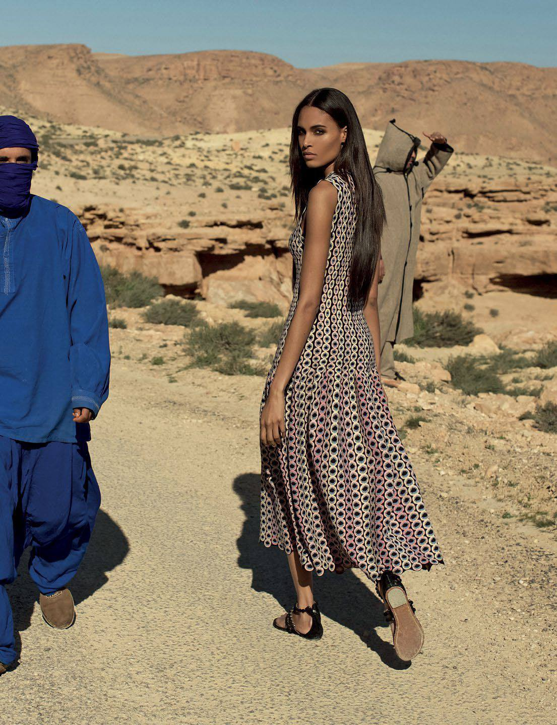 Vogue Arabia March 2018 Cindy Bruna by Julian Torres