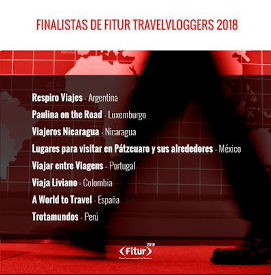 Nominees for the Best Content Bloggers at Fitur 2018