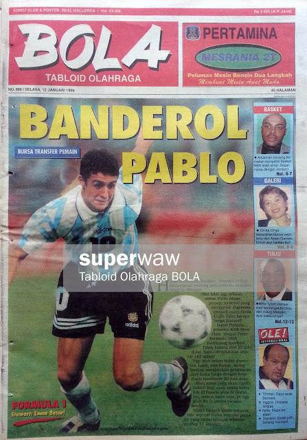 Tabloid BOLA: BANDEROL PABLO