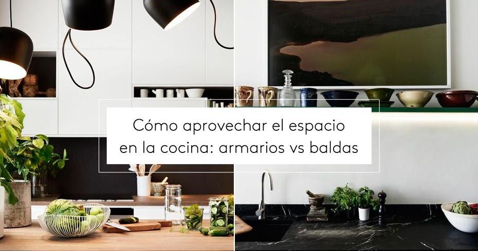 C mo aprovechar el espacio en la cocina armarios vs - Aprovechar espacio cocina ...