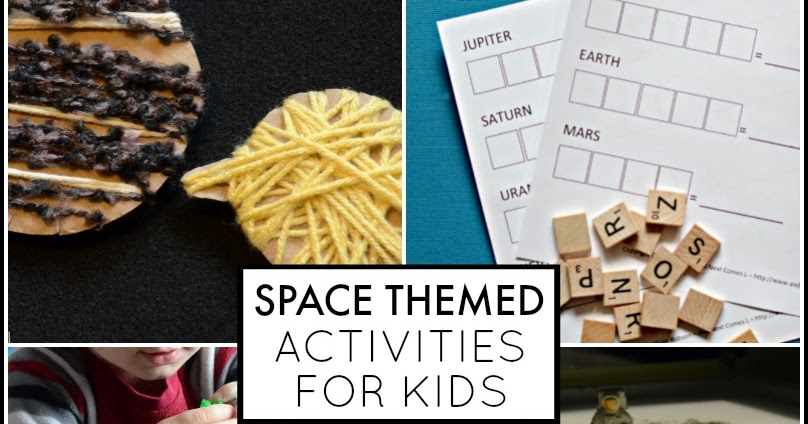 Space Themed Activities For Kids