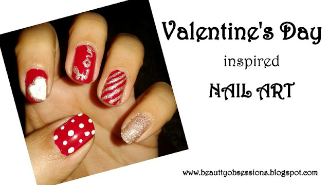Valentine's Day Inspired NailArt Tutorial