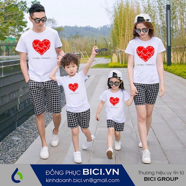 mẫu áo đồng phục gia đình 4