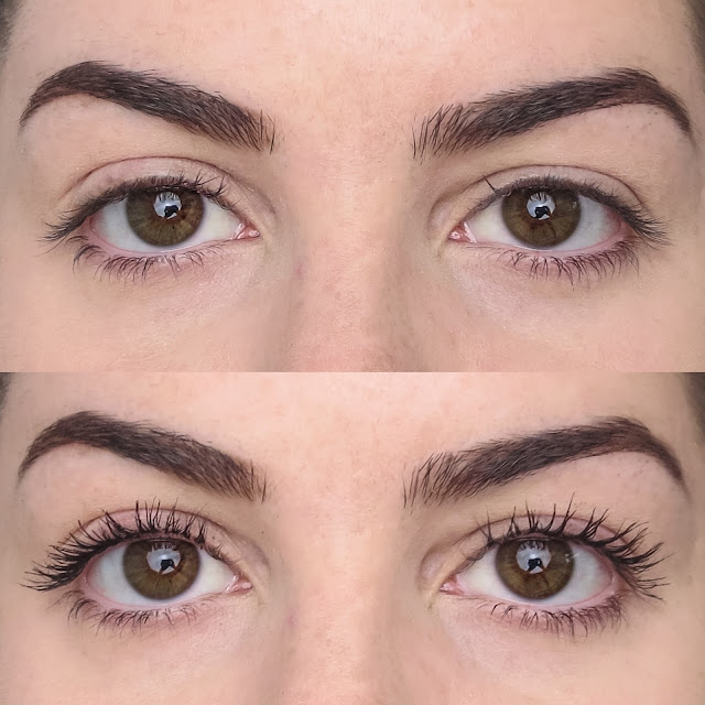a picture of L'Oreal Voluminous Butterfly Sculpt Mascara (Before & After)
