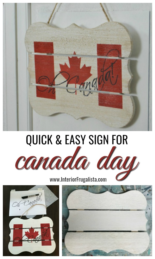 Easy Peasy Canada Day Sign