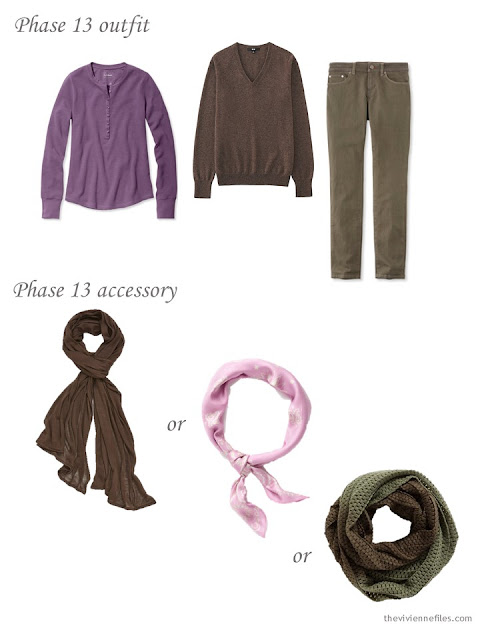 How to choose an accent color scarf