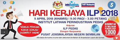 Hari Kerjaya ILP Pedas 2018 Pada 5hb April 2018