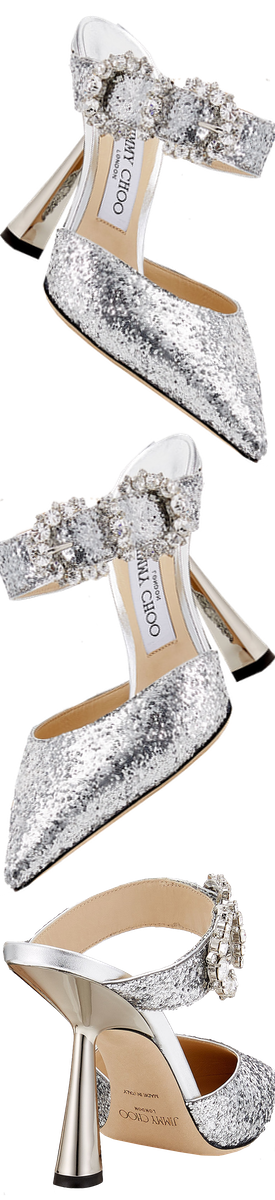 JIMMY CHOO SMOKEY 100 SANDAL IN SILVER