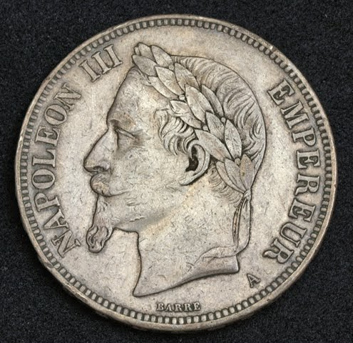 France Coins 5 Francs Silver Coin Of 1870 Emperor Napoleon