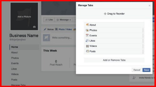 how to make a good facebook page for a business
