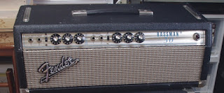 Picture of silverface Fender Bassman after reconditioning
