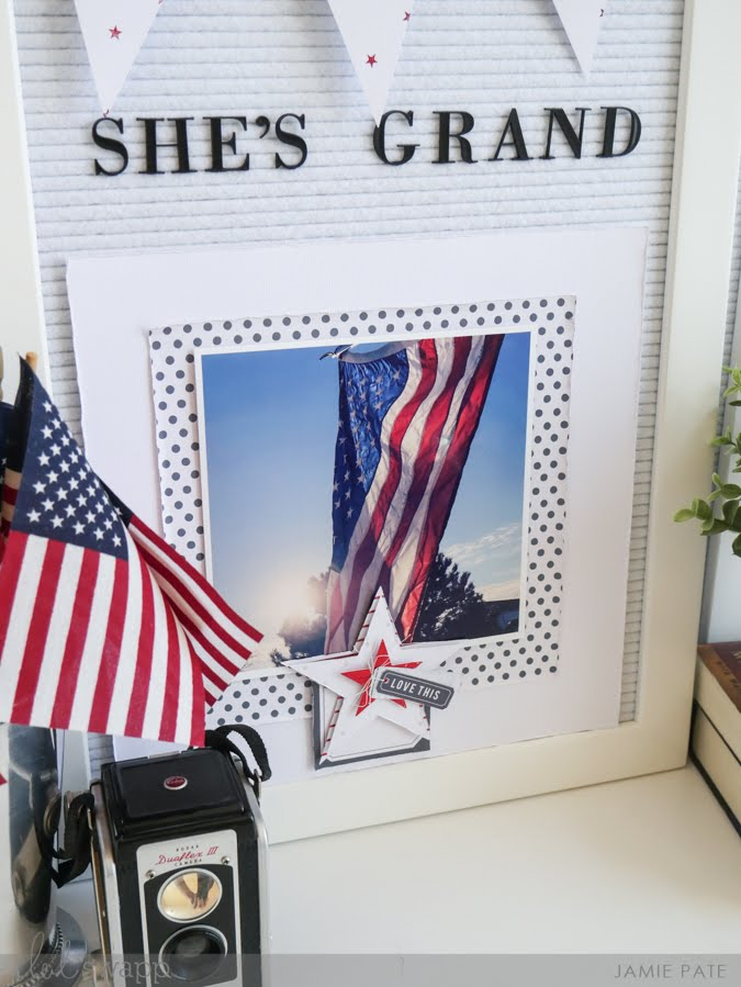 Patriot Summer Celebrations with Heidi Swapp Letterboard and Minc by Jamie Pate | @jamiepate for @heidiswapp