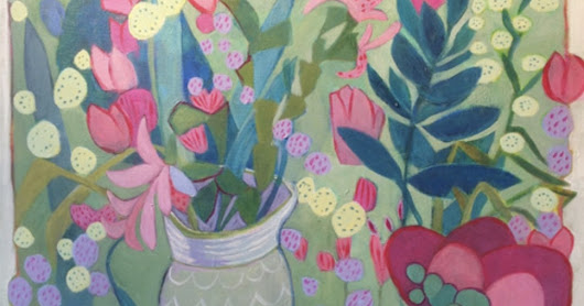 "Contemporary Still Life Art Painting ""Day in the Garden"" by Santa Fe Artist Annie O'Brien Gonzales"