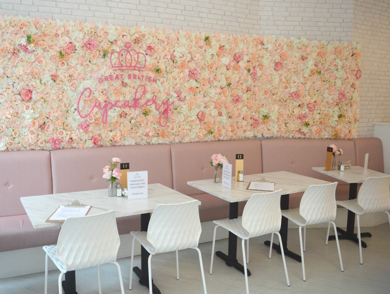 Flower Walls And Pink Lattes
