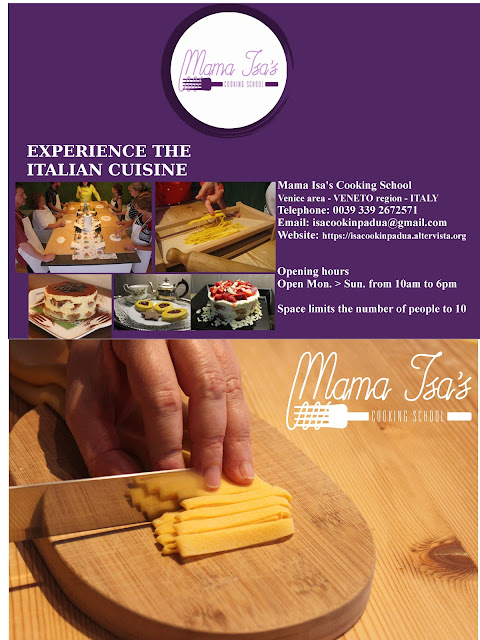 Cooking classes in Italy; cooking classes in Venice; Mama Isa's cooking school
