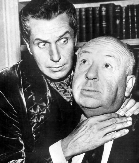 hollywood greats vincent price and alfred hitchcock