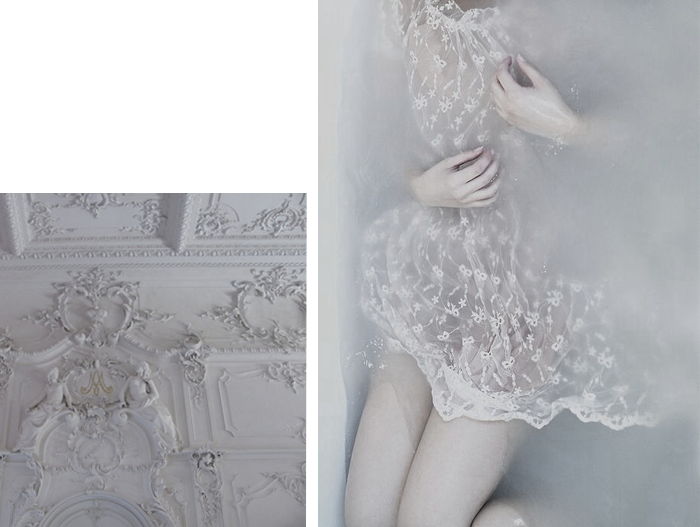 lace, dress, antique, ceiling, pale, water