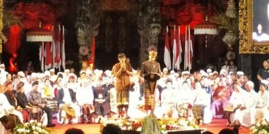 Di Bali, Jokowi Didoakan Jadi Presiden Lagi
