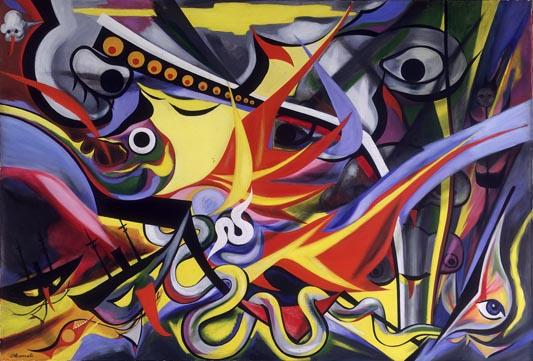 「明日の神話」に記念館にお墓も??東京で見れる岡本太郎の作品9つ【a】 国立近代美術館  「コントルポアン」「反世界」「燃える人」「夜明け」「遊ぶ」