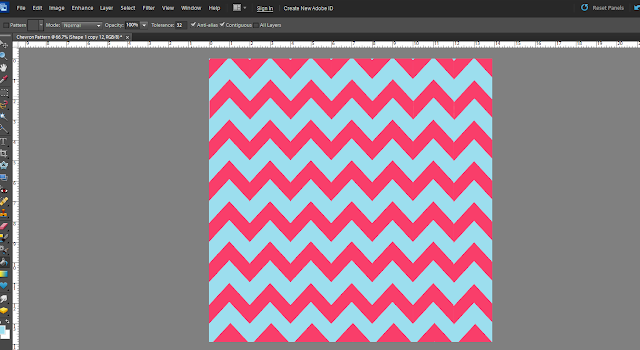 Sweet southern wife how to make your own chevron pattern for How to make a chevron template