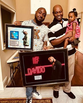 Beautiful Photo Of Davido, His Dad & 2nd Daughter - Image ~ Naijabang