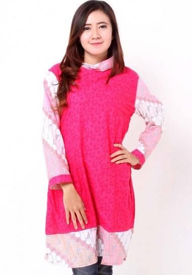 10 Model Baju Batik Wanita Lengan Panjang Terbaru 2020