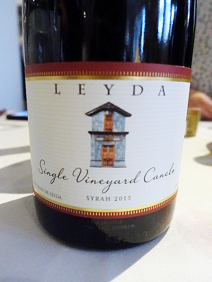 Viña Leyda Canelo Single Vineyard Syrah 2015 (90 pts)