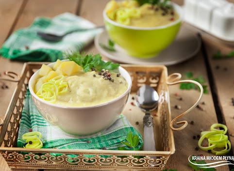 Vichyssoise- zupa ziemniaczano - porowa