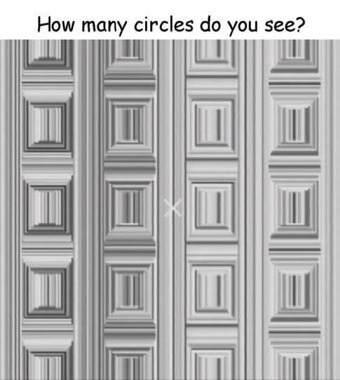Optical Illusion-Imaginary Circles