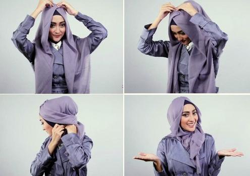 cara memakai hijab hanatajima dengan mudah