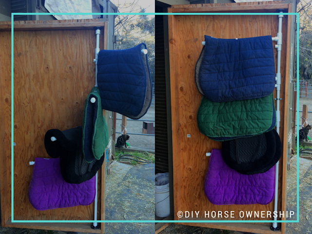 DIY: How to make a swiveling PVC Saddle Pad Rack
