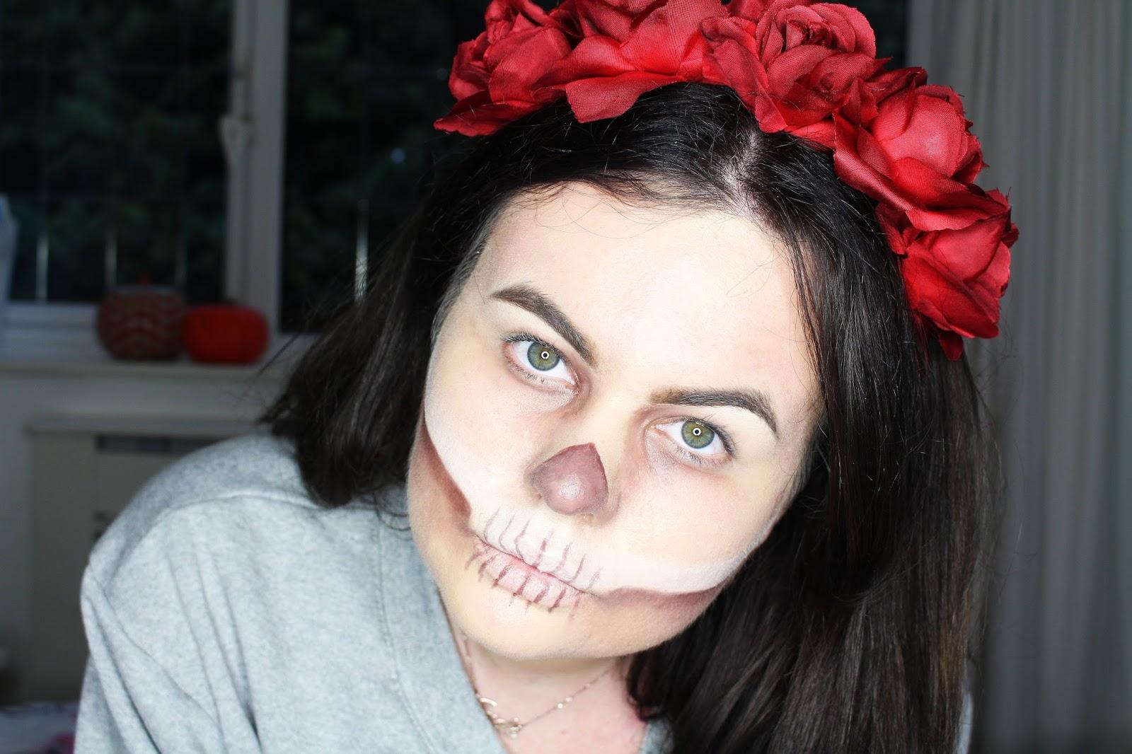 Halloween makeup, halloween tutorial 2016, easy & cheap halloween makeup, cheap halloween outfit 2016, easy halloween make up tutorial, last minute halloween outfit 2016, last minute halloween makeup, halloween skull tutorial, halloween wednesday adams tutorial,