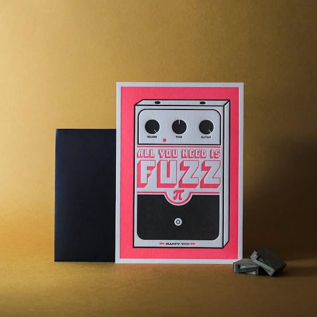 Carte Fuzz letterpress