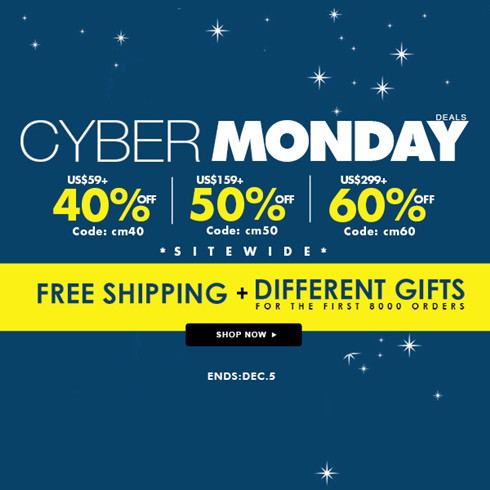 a637e767d3e0 Cyber Monday is a highlight in SheIn. Beauty addicts this year will find  more promotions on a range of clothing & accessories. 1.40% OFF OVER US$59