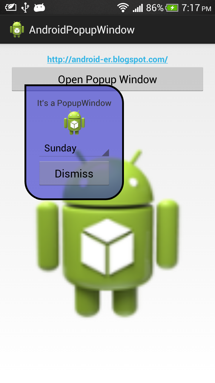 Popup Window with background of custom shape