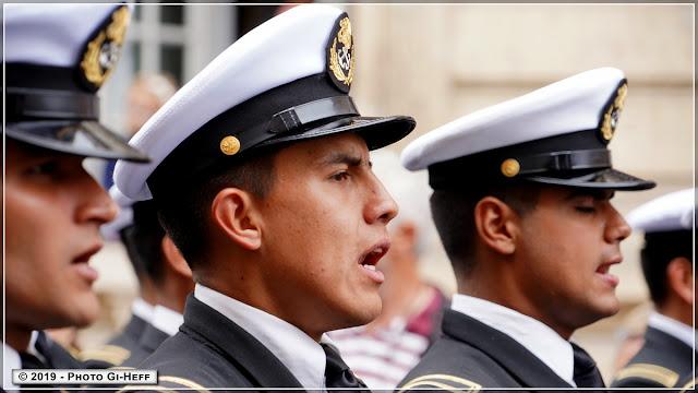 armada de rouen version 2019, défilé des équipages et marins.