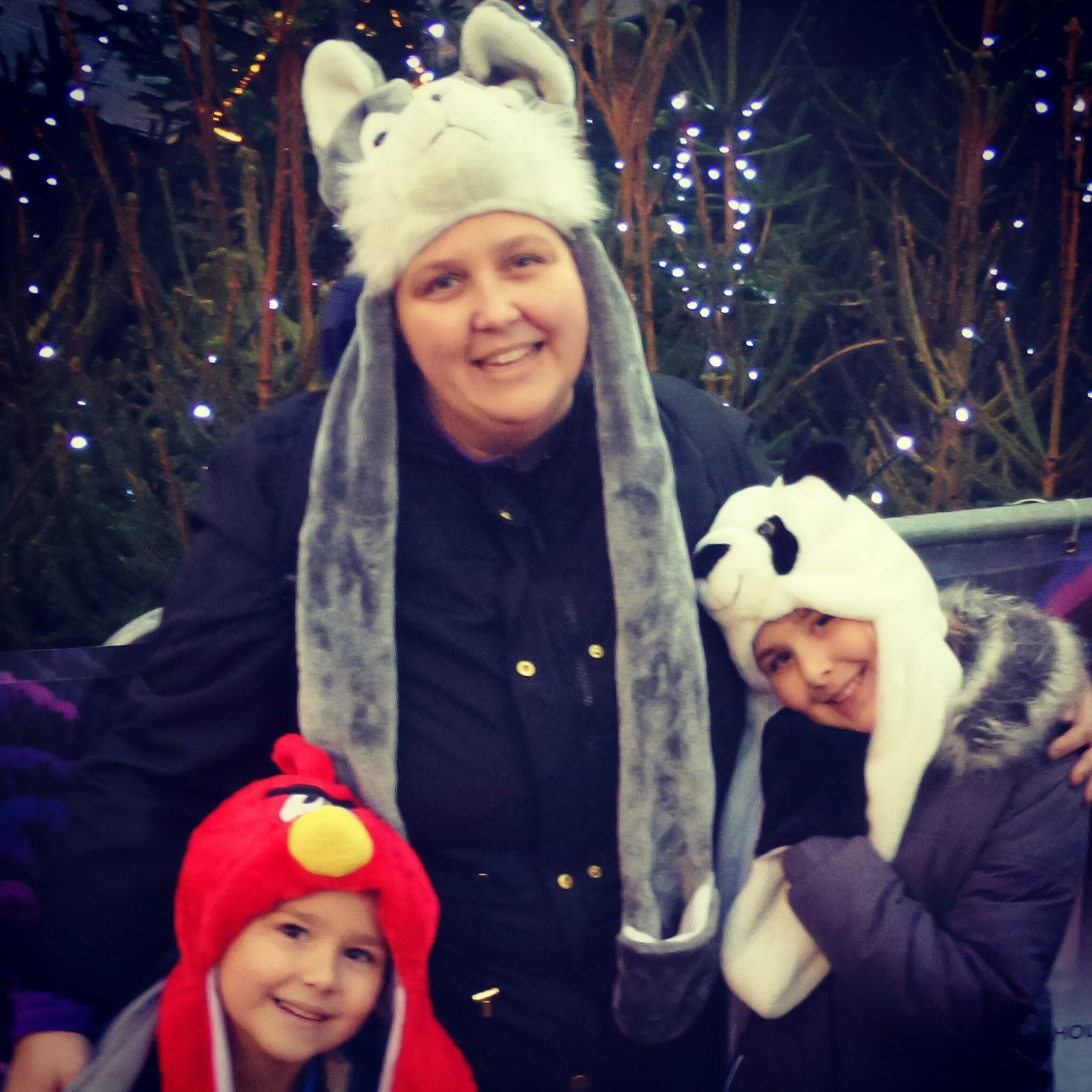 PippaD, Top Ender and Big Boy wearing their new Winter hats