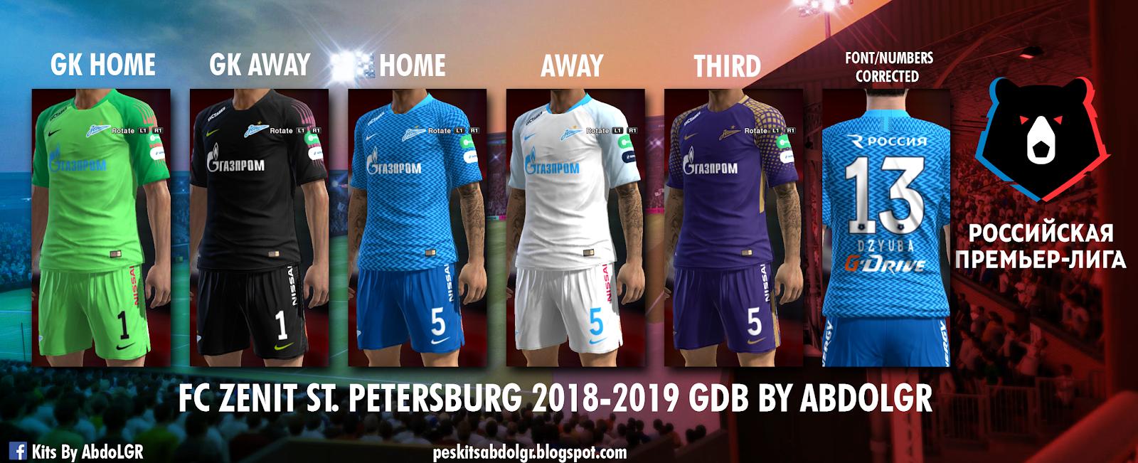 PES 2013 FC Zenit St. Petersburg 2018-2019 GDB by AbdoLGR