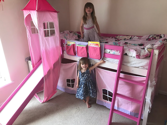 New Princess Bed with Slide and tent