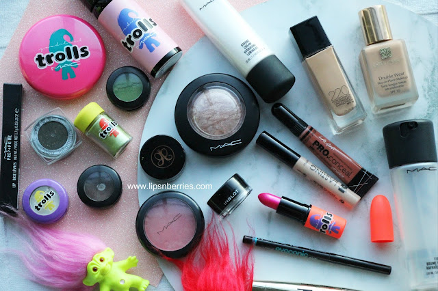 MAC trolls collection makeup