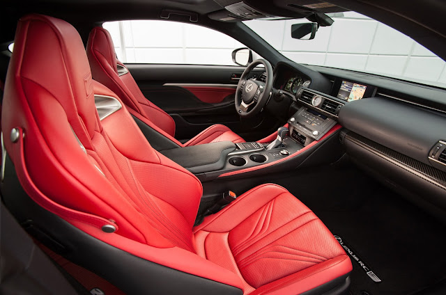 Interior view of 2016 Lexus RC-F