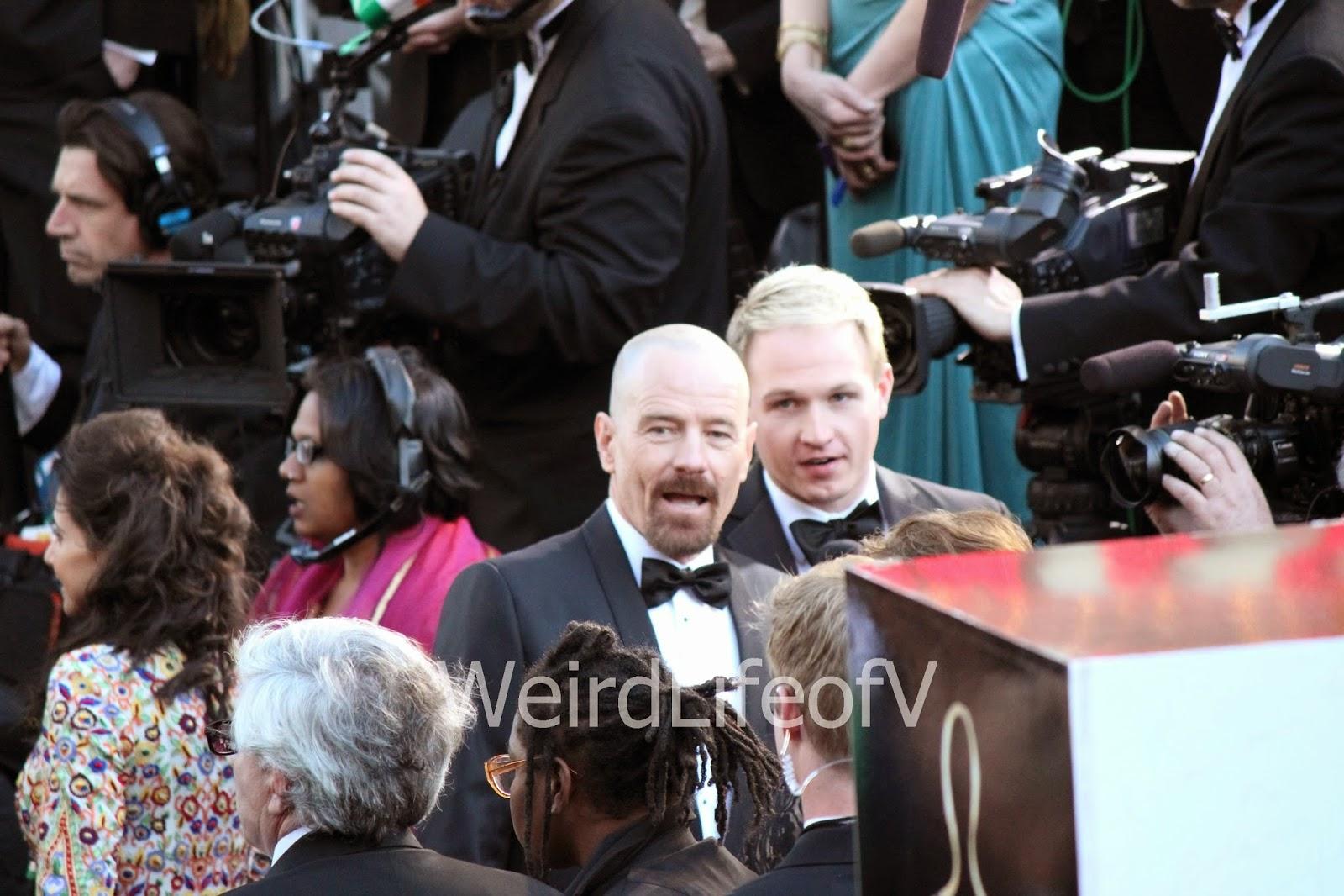 Bryan Cranston on the Oscars 2013 red carpet.