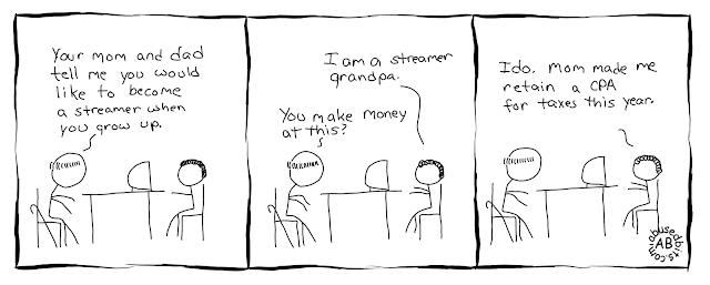 amusedbits, cartoon, gaming, grandpa, twitch, streaming