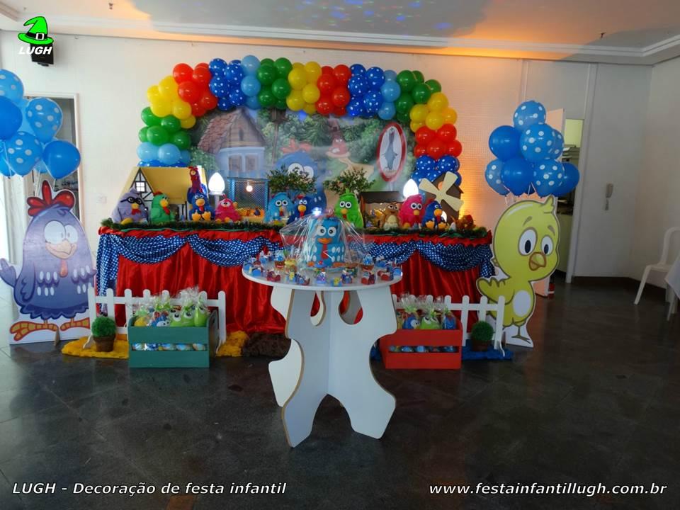 Decoraç u00e3o Galinha Pintadinha para festa de aniversário infantil Festa Infantil Lugh -> Decoração Festa Infantil Galinha Pintadinha Simples