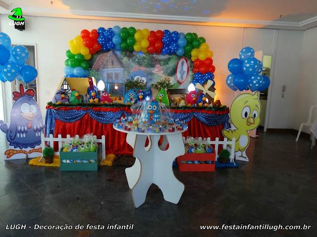 Decoração tradicional da Galinha Pintadinha para festa de aniversário infantil - Mesa decorada na Barra (RJ)