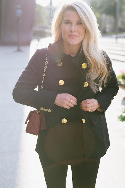 kate spade wool and velvet ruffle coat
